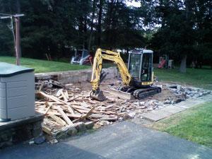 Pool demolition in Hartford, CT - Neighborhood Services, LLC