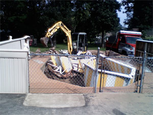 swimming pool removal in hartford ct