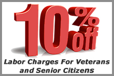 10% off coupon for Vets and Sr. Citizens
