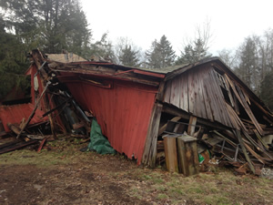 Shed, Garage demolition in Burlington CT from Neighborhood Services